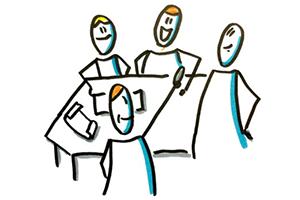 Live-Meetings, um die soziale Verbundenheit zu fördern